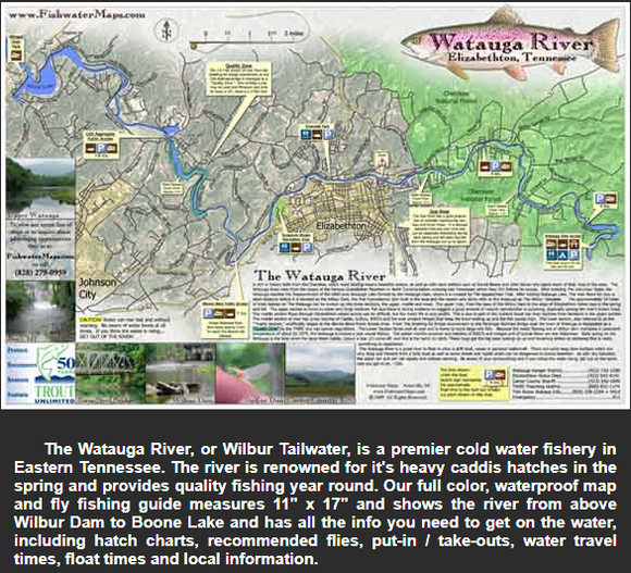 Watauga River Map