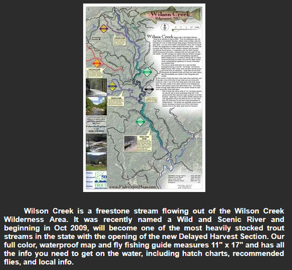 Wilson Creek Fishing Map