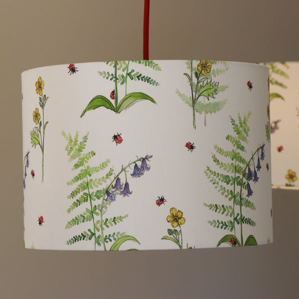 Lampshade Buttercup, bluebell and fern