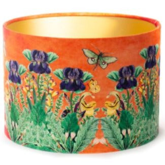 Orange Velvet Lampshade
