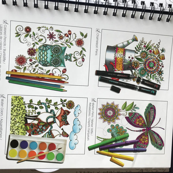 Colouring Book Loris Art Garden