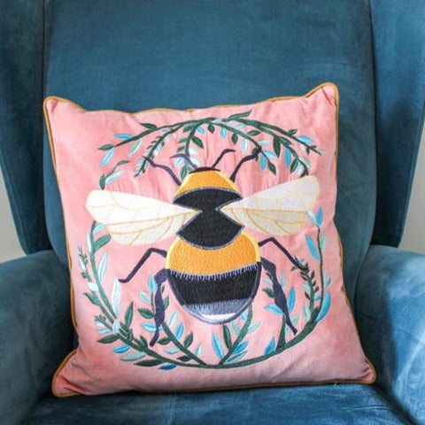 Bee Cushion - Pink