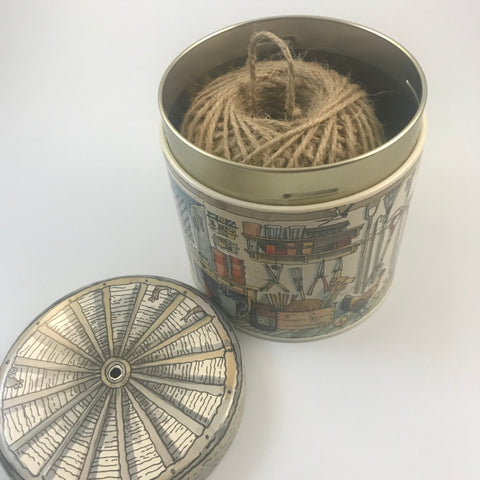 Garden Shed String Holder tin