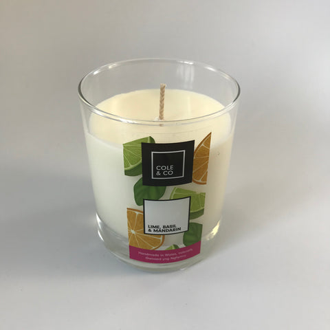 Candle Lime , basil and mandarin