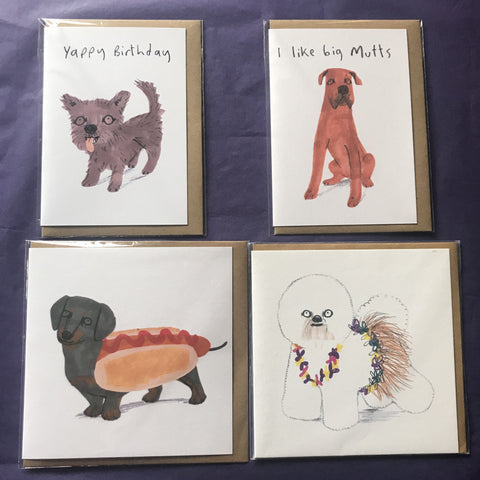 Birthday cards - 1c Dogs