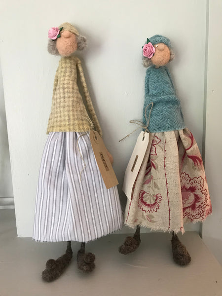 Felt Old Ladies by Kate Toms