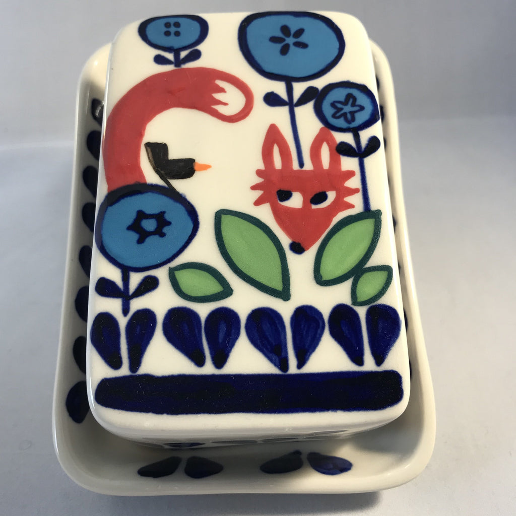 Fox and Fauna Butter Dish