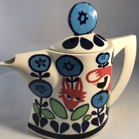 Fox and Fauna Tea Pot