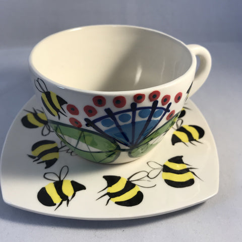 Bees Cup and Saucer