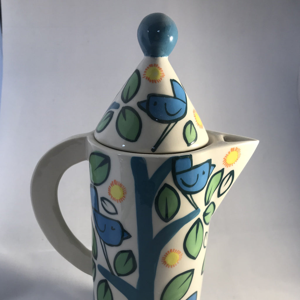 Birds Coffee Pot