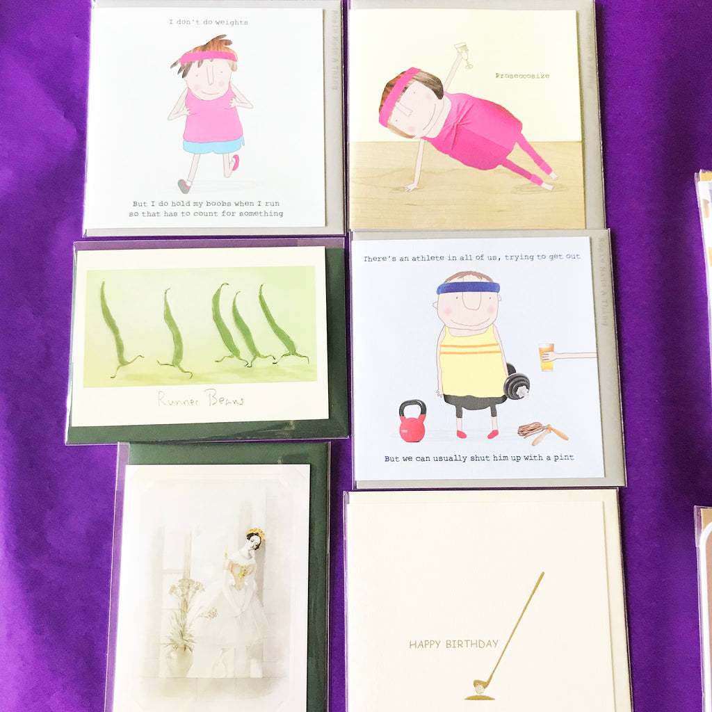 Birthday Cards 26 - Exercise, Keep Fit, running, dancing