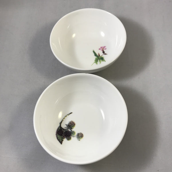 Bone china bowl with wild flowers