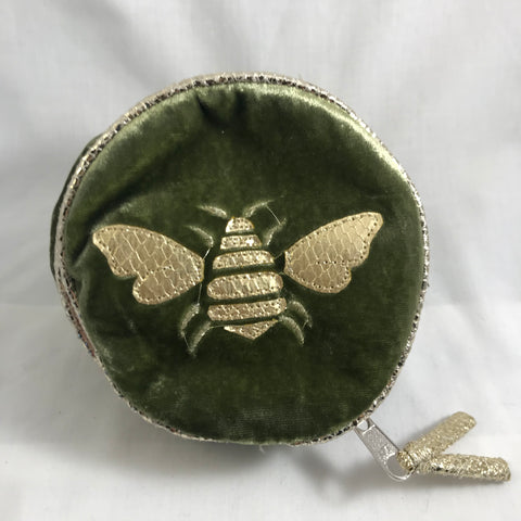 Velvet Bee Round Jewellery purse