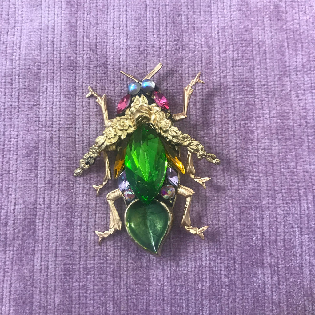 Vintage Style Bee and Beetle Brooches