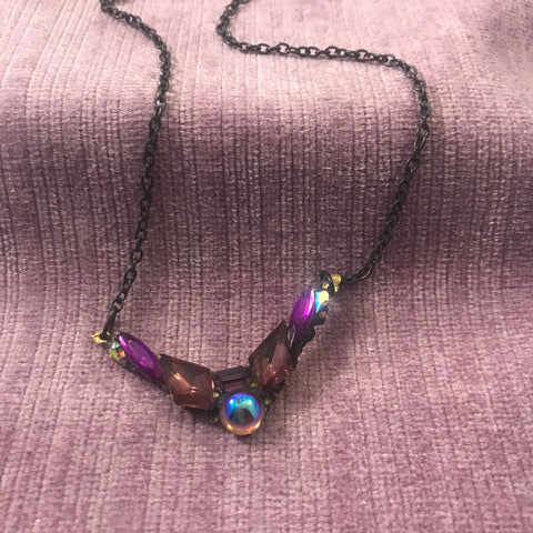 Vintage style Purple Necklace