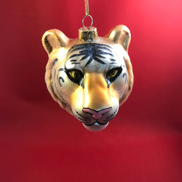 Tiger Head Christmas Bauble
