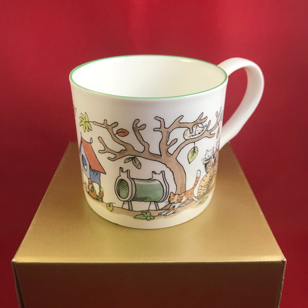 Whimsical China Mug Cats