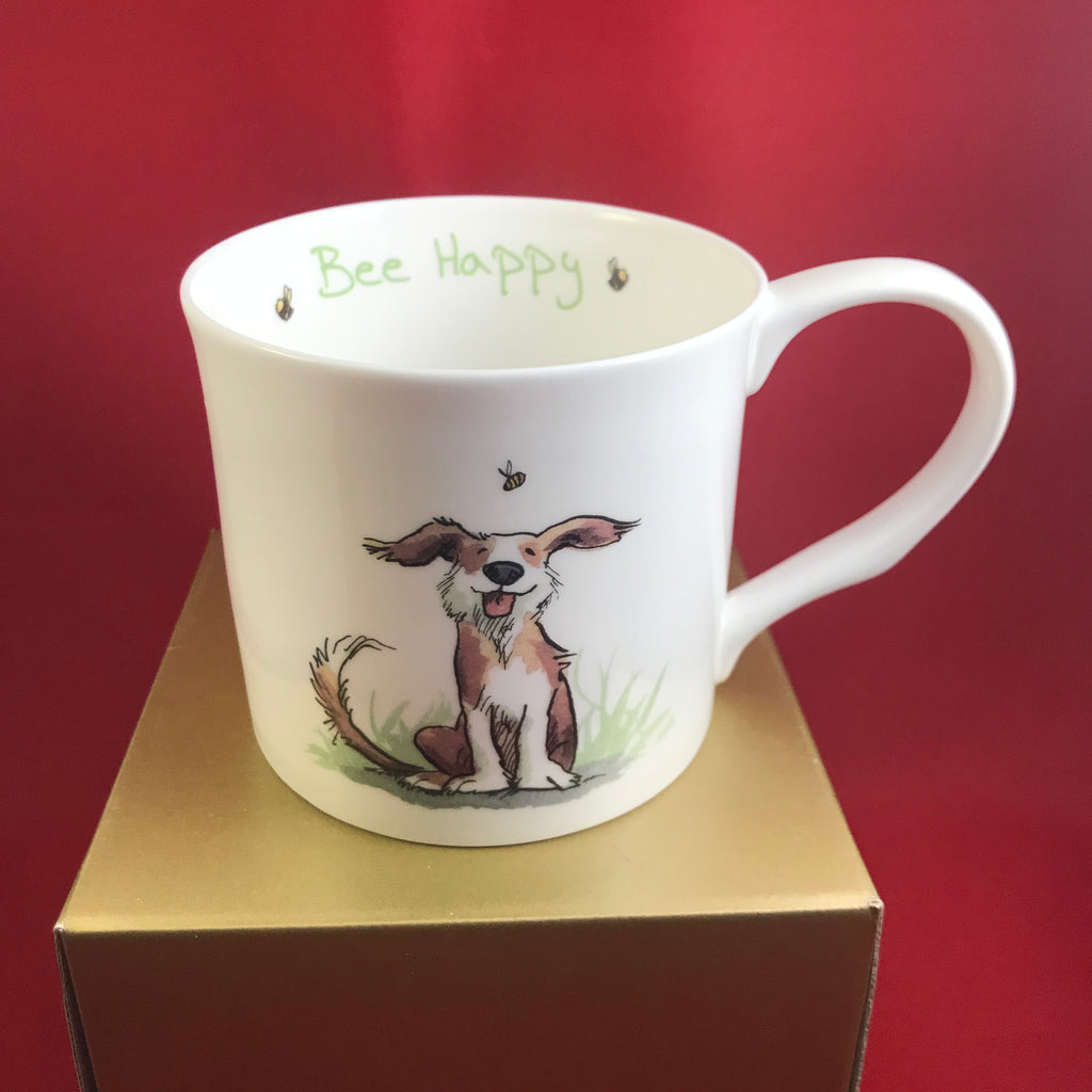 Whimsical China Large Mug Bee Happy