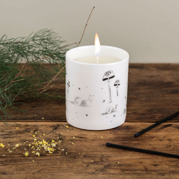 Ceramic Snail Candle
