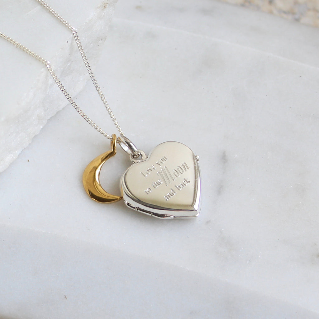 Heart Locket to the moon and back