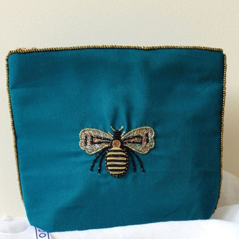 Blue Bee Velvet Make Up Bag