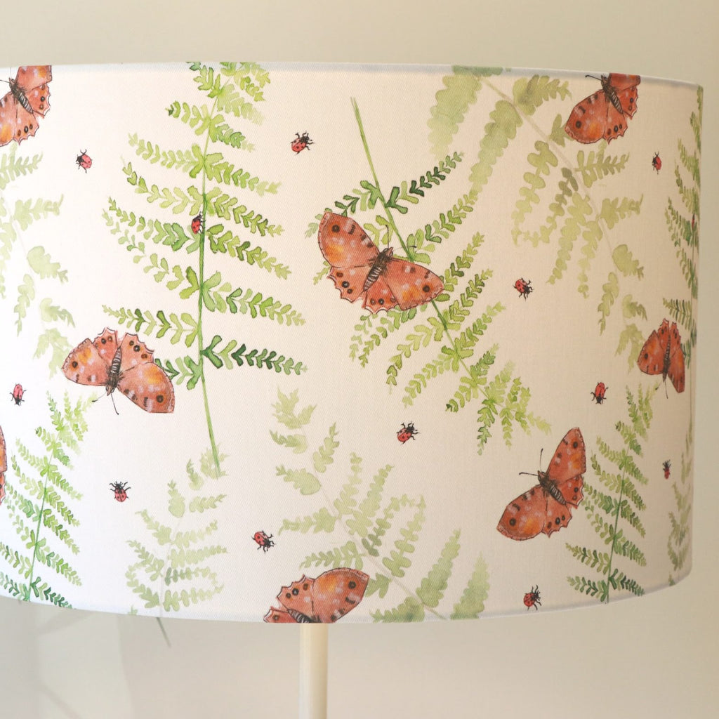 Lampshade Butterfly and Fern Large