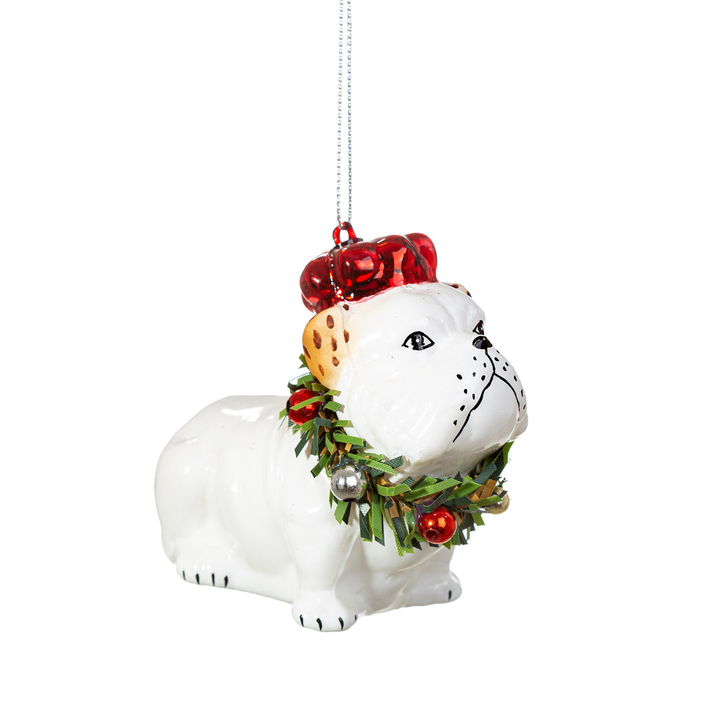 Bulldog Christmas Decoration