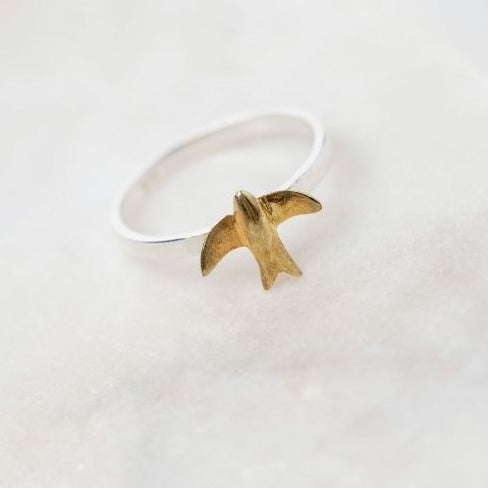 Swallow Silver Ring