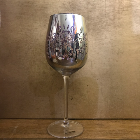 Wine Glass Purple Filigree