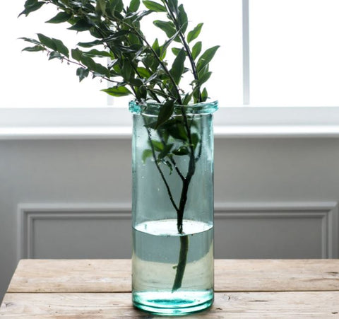 Tall Recycled Glass Vase