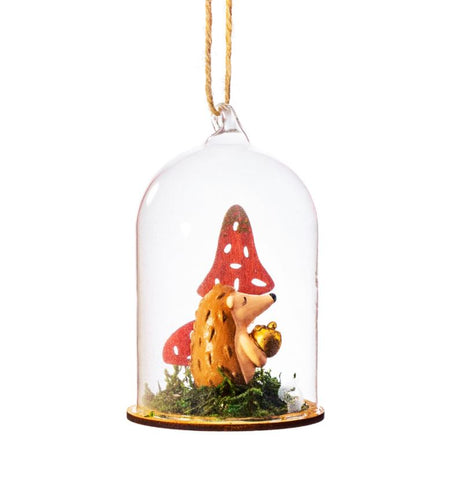 Toadstool under glass Christmas Decoration