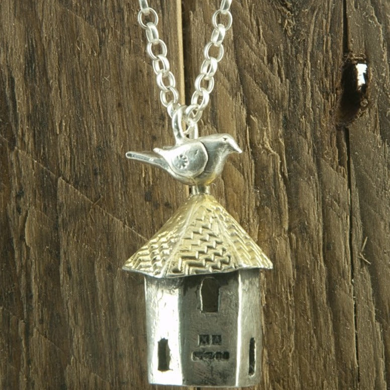 Bird and dovecote necklace