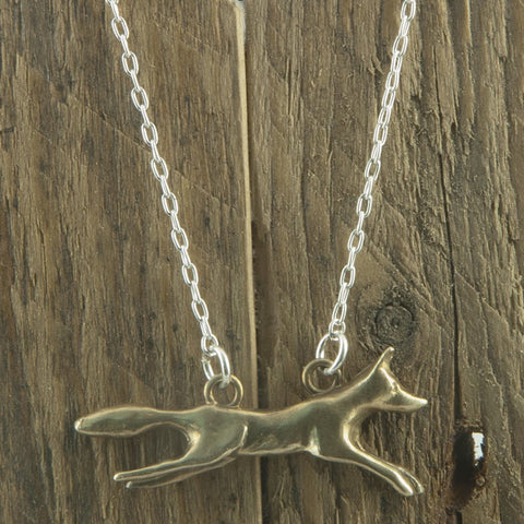 Bronze foxy necklace