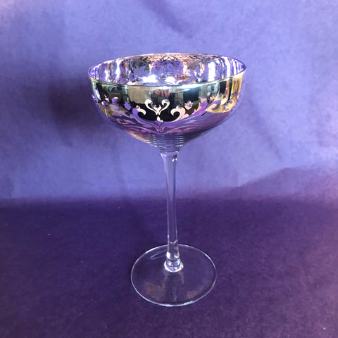 Champagne Saucer Purple Glass