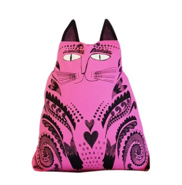 Kitty Cat Cushion Pink