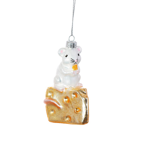 Mouse on Cheese Christmas Decoration
