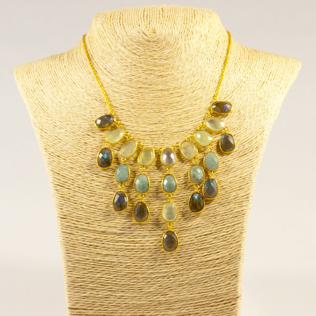 Droplet statement pebble necklace
