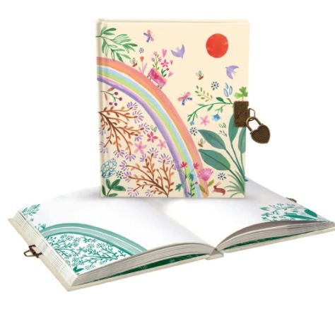 Lockable Rainbow Note book