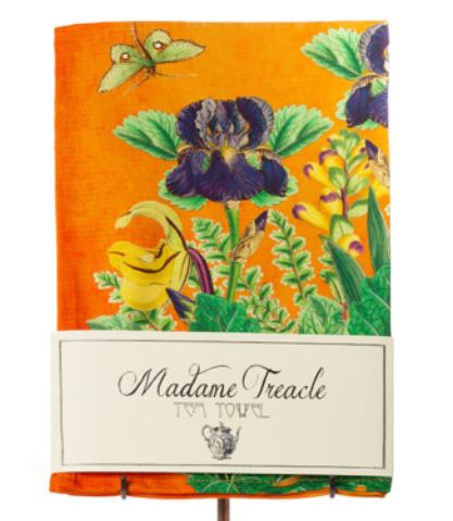 Orange Flower Tea Towel