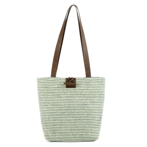 Tweed Shoulder Bag Striped