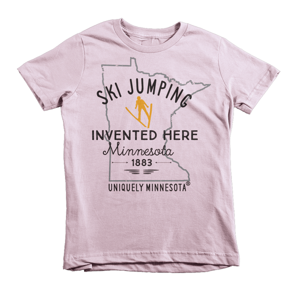 Kids Ski Jumping 100% Cotton Shirt – Invented Here Collection™
