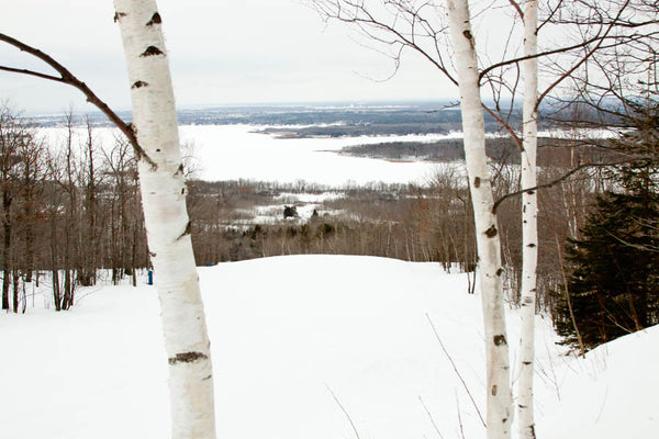 A Minnesota ski scene showcases that ski jumping was invented in Minnesota.