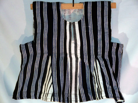 Boy's Batakari / Fugu - Black w/ White Stripes