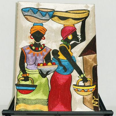 Brilliant Colorful String Art - Market Women