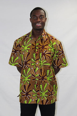 Men's African Wax Print Shirt