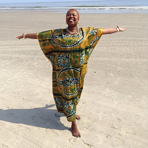 African Boubou / Caftan - Beach Yellow