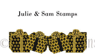 Personalized Black and gold fleur de lis present gift tag/calling card