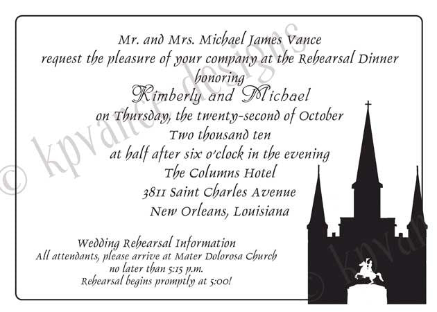 New Orleans St. Louis Cathedral Invitation