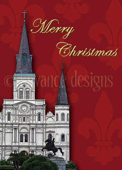 New Orleans St. Louis Cathedral Christmas card