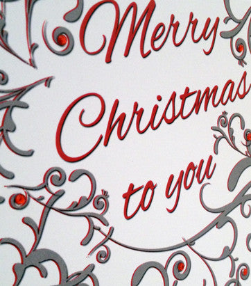 Christmas Flourish Greeting Card
